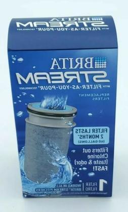 1 Brita Stream Replacement Filter  Filter-As-You-Pour   Bran