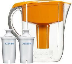Brita 10 Cup Orange Grand Water Filter Pitcher with 2ct Filt