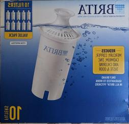 10-Pack Brita Pitcher Replacement Water Purification Filters