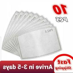 10 pcs PM 2.5 Replaceable Filter Inserts for REUSABLE Fabric