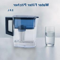 2 5l water filter pitcher reduces 100