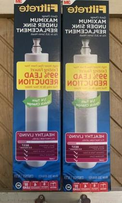 2 Brand New - 3M Filtrete 3US-MAX-F01 Water Filter Replaceme