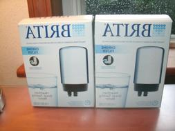 2 Brita Chrome Filter Faucet Replacement Filter FR-200 FREE
