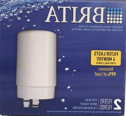 2 PACK Brita FR-200 White Faucet Replacement Water Filter FF
