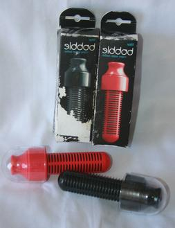 2 Bobble Water Bottle Replacement Filters Black Red New Old