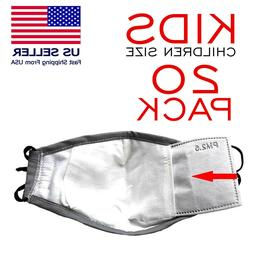 20 KIDS FACE MASK Filter insert Replacement 5 Layer PM2.5 Ca