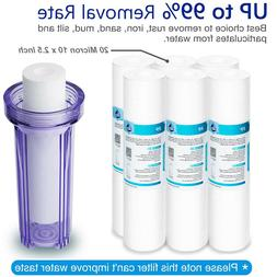 """20 Micron 10"""" x 2.5"""" Whole House Sediment Water Filter Repla"""