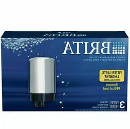 3 PACK -- Brita FR-200 Faucet Replacement Filters CHROME FR2