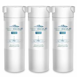 3 Pack GLACIER FRESH GF-XWF Refrigerator Water Filter Replac
