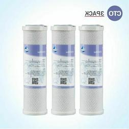 """3Pack 2.5x10"""" Whole House CTO Carbon Sediment Water Filter R"""