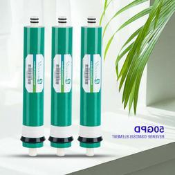 3PCS 50GPD Water Filter Reverse Osmosis RO Membrane Replace