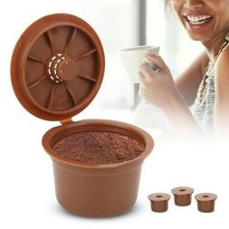 3pcs Refillable Coffee Capsule Filter Cup Replacement Access