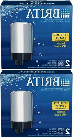 4 Brita Faucet Replacement Chrome Filters Removes 99% Lead f
