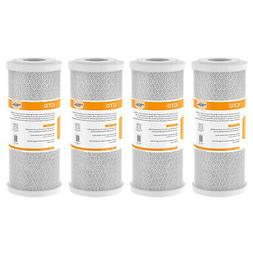 4 Pack Big Blue Carbon Block Water Filter Replacement Cartri