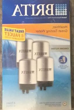 4 Pack Brita Replacement Filters Chrome On Tap Faucet New Se
