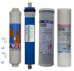 4 stage Reverse Osmosis Replacement Filter set with 50 GPD m