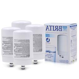 4pack Brita FR-200 White On Tap Faucet Replacement Filter, F