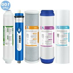 5 pc RO Water Filter Replacement Set, 5-Stage 1-Year, Revers