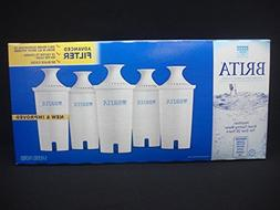 5 Brita Pitcher Replacement Advanced Water Filter Model # OB