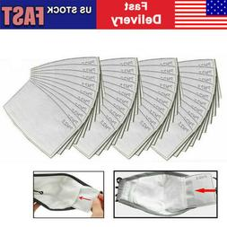 50 Pack PM2.5 Activated Carbon Filters 5 Layer Replacement F