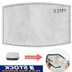 50 X PM2.5 Activated Carbon Filter Face Cover Soft Replaceme