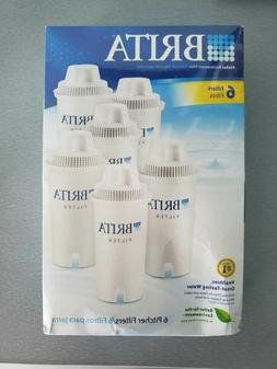6 PACK OF GENUINE BRITA WATER PITCHER REPLACEMENT FILTERS SE