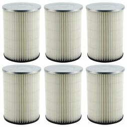 6 Pack Shop-Vac 90328 Replacement Cartridge Filters for Craf