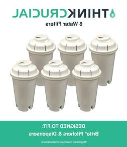 6 Replacements Pitchers & Dispensers Brita Water Filters