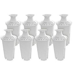 Pack of 8 Water Replacement Filters Compatible with Standard