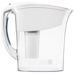 Brita Atlantis Water Filter Pitcher, White, 6 Cups, 1 ea