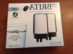Brita On-Tap Faucet Water Filter Replacements, Chrome, 2 Pac