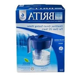 Brita Classic Water Filter Pitcher, Blue, 6 Cups, 1 ea