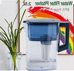 Cold Blue Color Water Pitcher Filter Activate Carbon Purifie