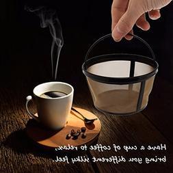Drinkware & Tea Sets - Reusable Gold Coffee Filter Basket 10