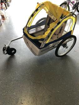 Schwinn Echo Kids/Child Double Tow Behind Bicycle Trailer, 2