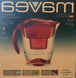 Mavea Elemaris XL Water Filtration Pitcher - Ruby Red