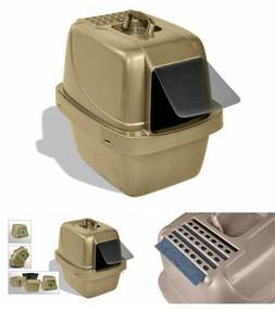 Enclosed Cat Litter Pan Large Cover Odor Replaceable Air Fil