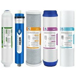 5Pack 75GPD RO Water Filter System Household Replacement for