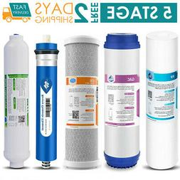Full 5 stage Reverse Osmosis Replacement Filter Set With 50