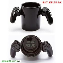 Game Over Ceramic Coffee Mug Tea Cup PlayStation Controller