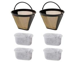 Podoy Gold Coffee Filter with Charcoal Water Filters Cone St