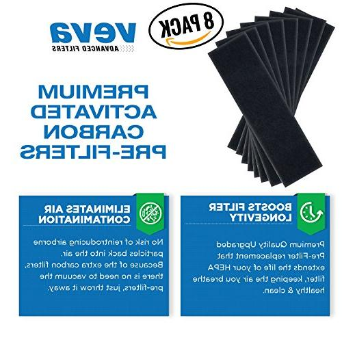 VEVA Filters 8 Pack of Compatible Air Purifier AC4825, 4800, 4900 Filter B