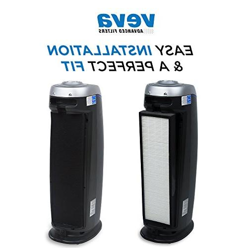 VEVA 2 HEPA Filters of Pre-Filters Air 4800, Replacement Filter B