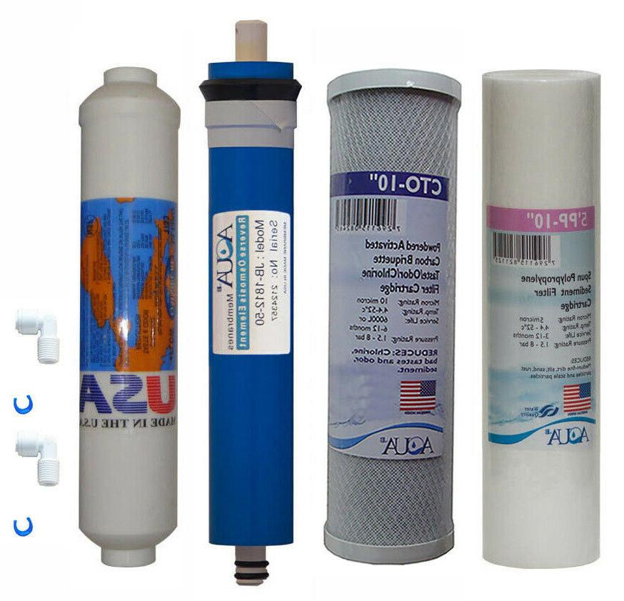 4 stage reverse osmosis replacement filter set