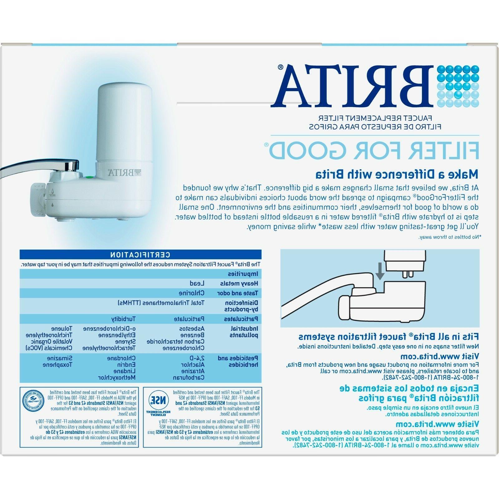 Brita 42618 2 Chrome Faucet Filter