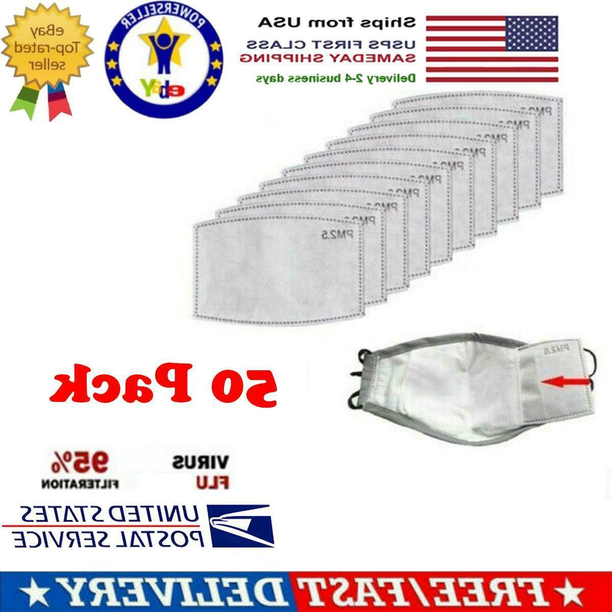 50 pack pm2 5 activated carbon filters