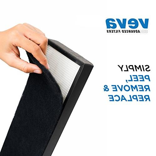 VEVA 2 HEPA Filters of Pre-Filters Air Purifier Models 4800, 4900 and Filter