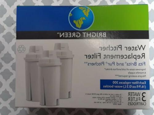 Bright Green Replacement Water Pitcher Filter Fits Brita and
