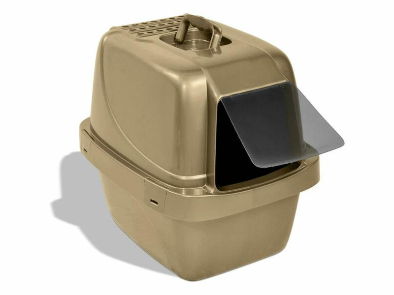 Cat Litter Box Sifting Enclosed Litter Scoop Free Replaceabl