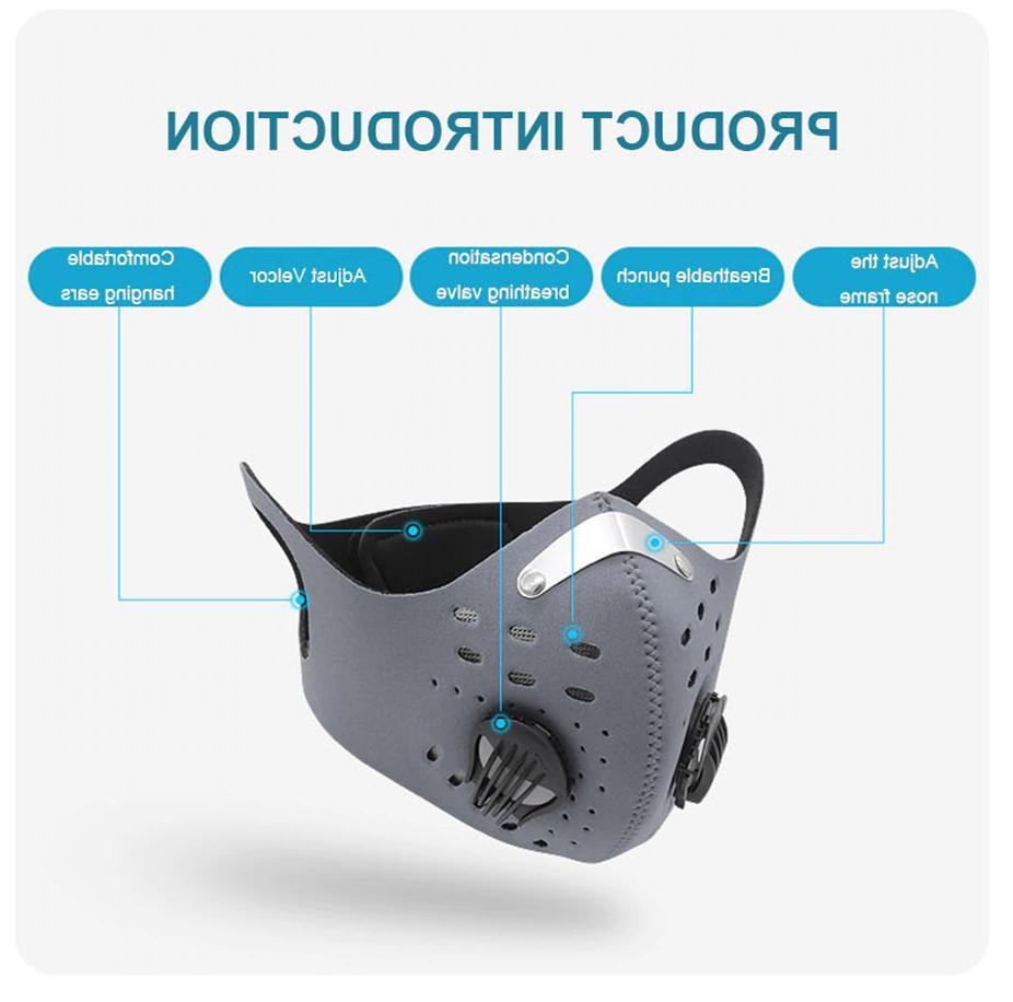 Face Reusable Cycling Air Valve Filter